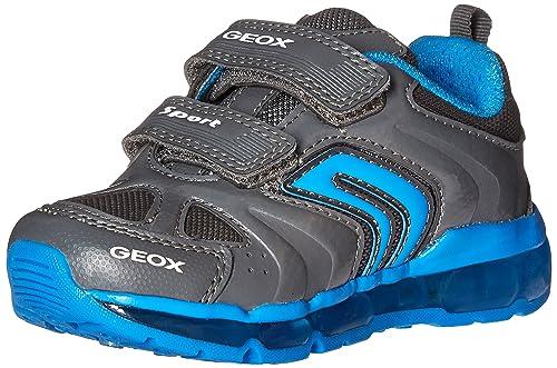 Geox J Android Boy D, Zapatillas para Niños, Gris (DK Grey/Sky C1338), 37 EU
