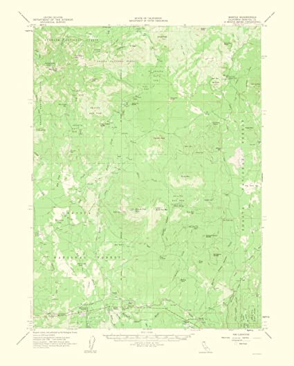 Amazon.com: Topographical Map Print - Bartle California Quad - USGS ...