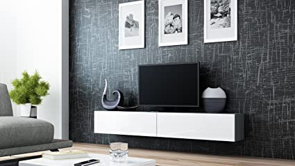 Merveilleux Seattle Floating TV Cabinet U2013 TV Stand With High Gloss Fronts   Seattle  Hanging TV Console