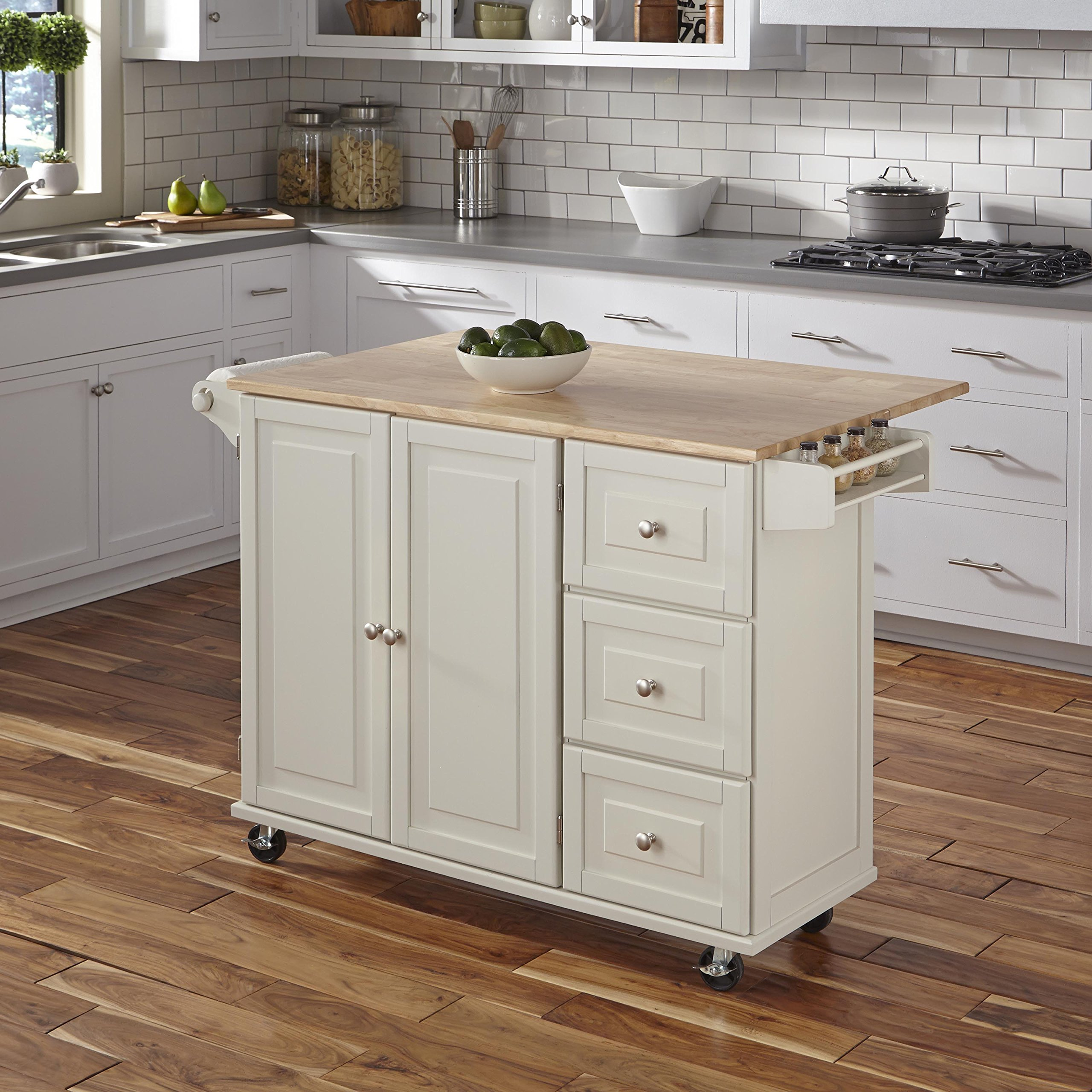 Home Styles 4511-95 Liberty Kitchen Cart with Wood Top, White by Home Styles (Image #6)