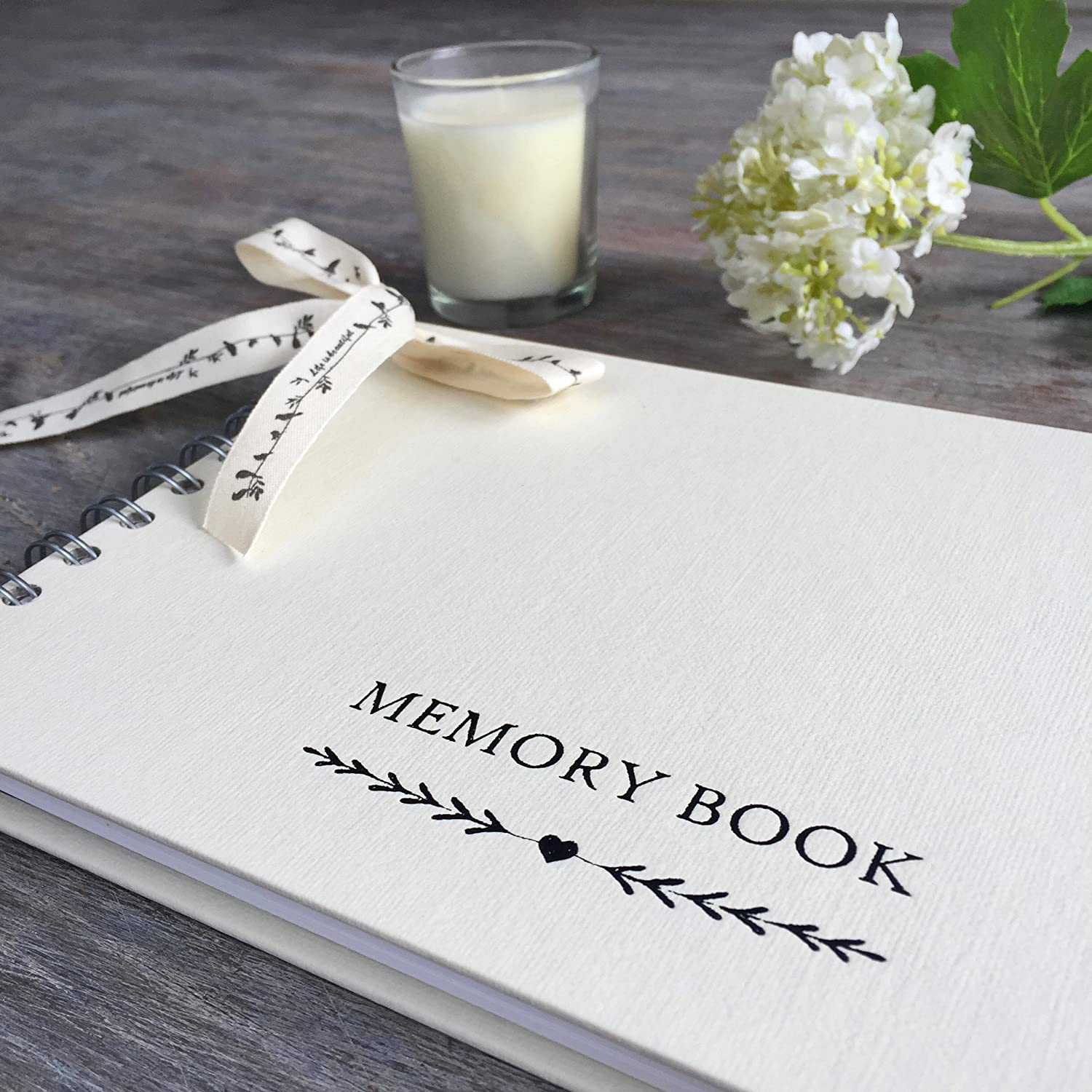 Angel & Dove Luxury A5 Memory Book for Funeral, Remembrance, Condolence, Celebration of Life