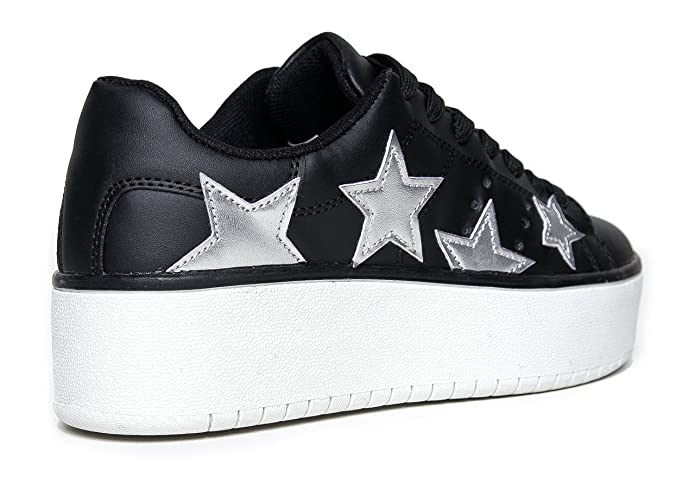 60df4f1d26 Amazon.com | J. Adams Platform Lace up Sneaker - Casual Chunky Walking Shoe  - Easy Everyday Fashion Slip On - Hero by | Fashion Sneakers