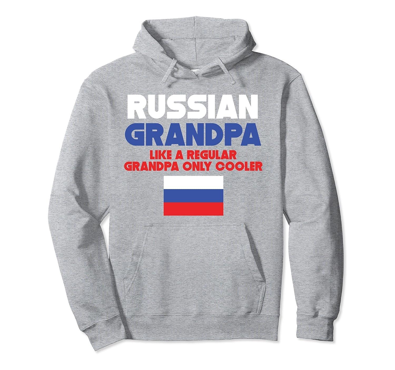 Russian Grandpa Hoodie Funny Grandparent's Day Hoodie-AZP