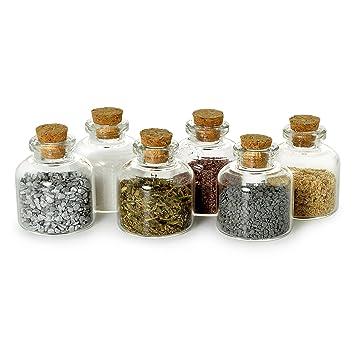 Ganzoo Mini Flaschchen Glas Korken Dekoration Spund Flasche