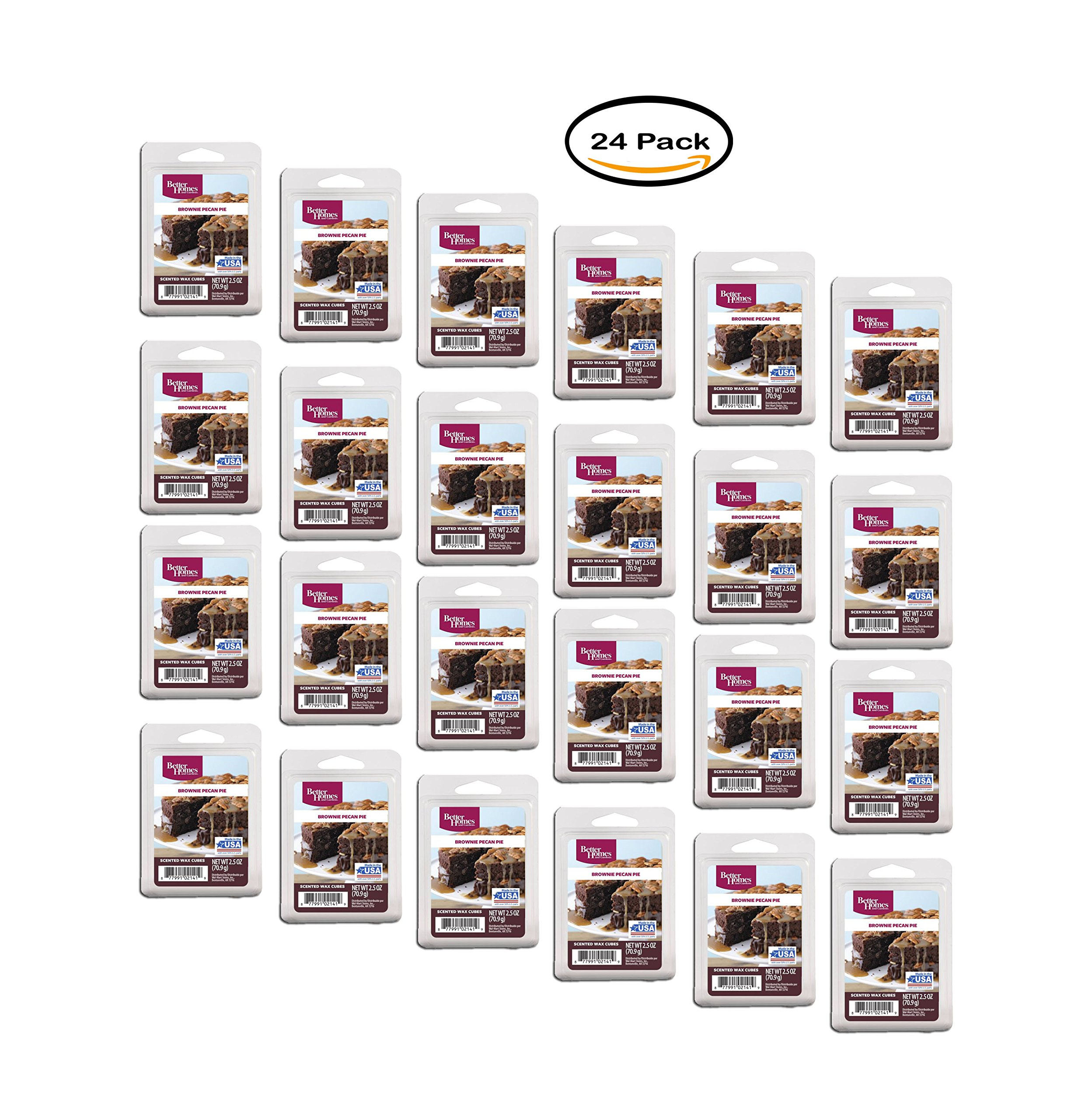 PACK OF 24 - Better Homes and Gardens Brownie Pecan Pie Fragrance Wax Cubes by Better Homes and Gardens