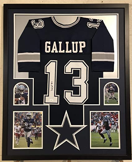 finest selection 69c9a 071ef Michael Gallup Autographed Custom Framed Dallas Cowboys ...