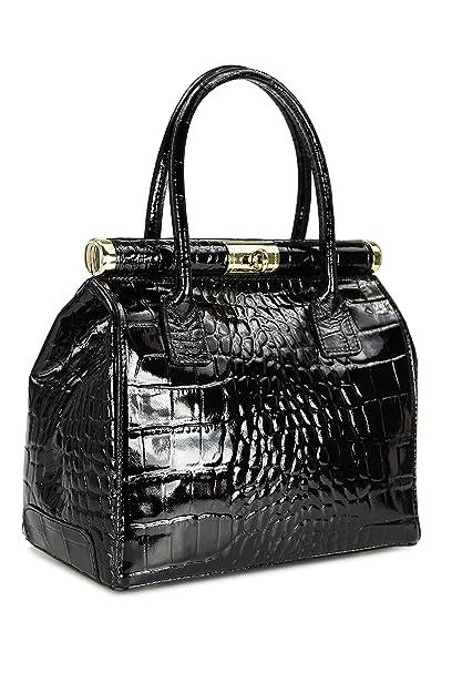 "f6d704e7c6 Belli® ""The Bag L"" Womens Italian Genuine Leather Handbag Satchel Bag  Patent Leather"