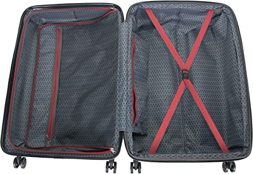 Kenneth Cole Reaction Wave Rush 28 Lightweight Hardside 8-Wheel Spinner Expandable Checked Suitcase, Warm Red, Inch