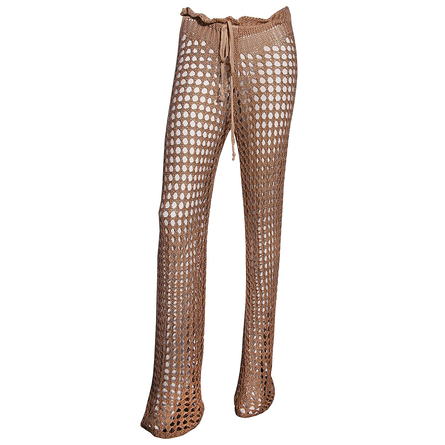 3c664363a6ee9 Undie Couture Crochet Sheer Mesh Beach Cover Up Pants - Tall at Amazon Women's  Clothing store: