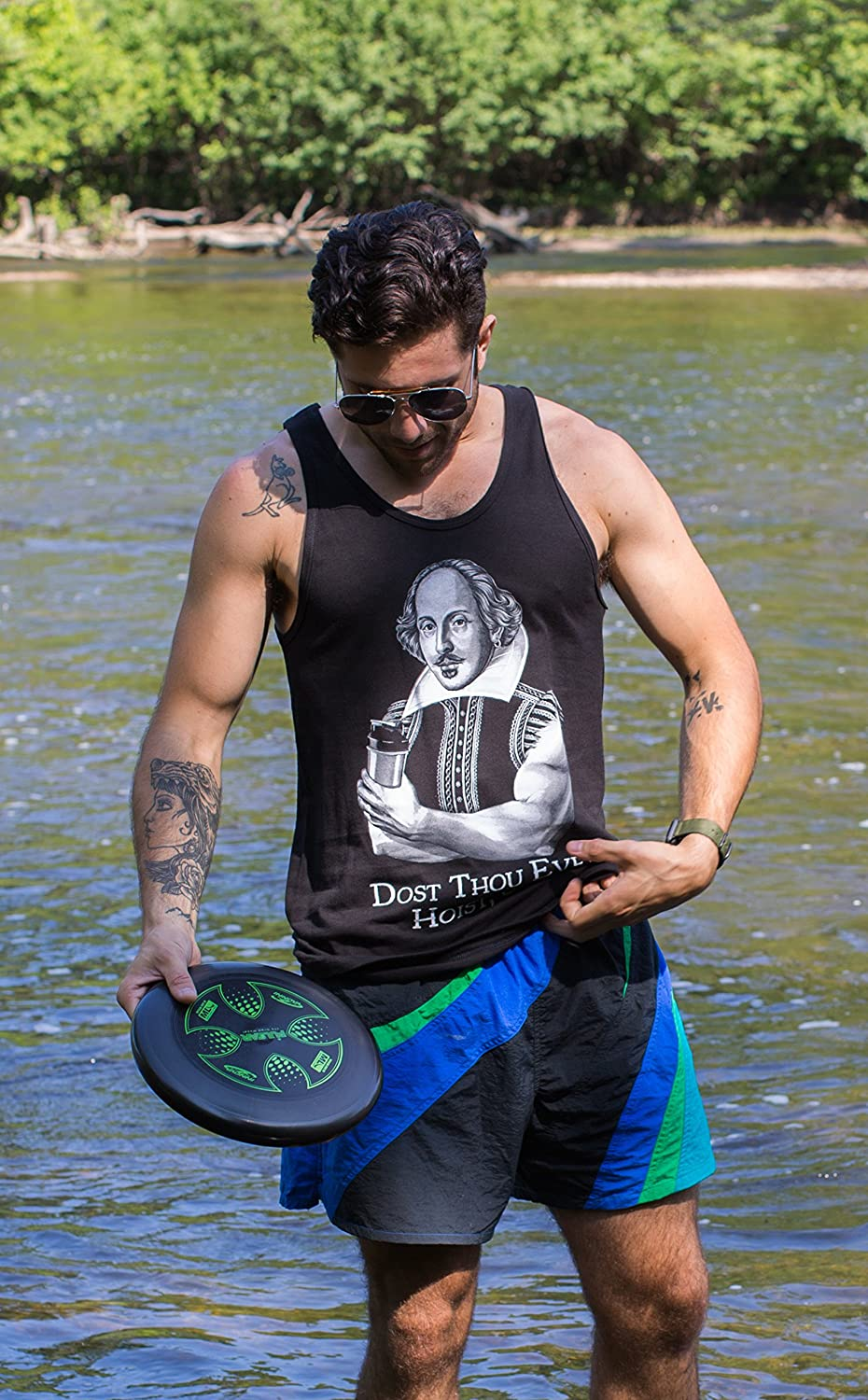 Funny Workout Weight Lifting Shakespeare Gym Tank Top Black 0-fba/_doththou2-tank Dost Thou Even Hoist Sir