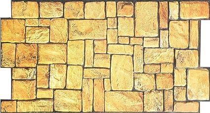 Amazon Com Sand Stone 3d Pvc Wall Tile 39 X 19 1 2 Home Kitchen