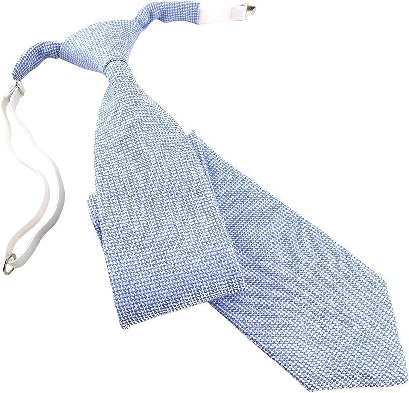 TigerTie - Corbata - para niño azul claro, blanco Talla única ...