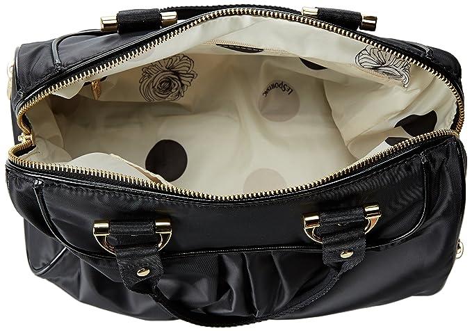 LeSportsac Signature Small Satchel, Black Twill Cream, One Size  Handbags   Amazon.com 35c2d24cd6