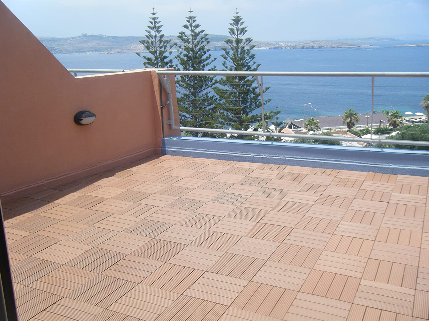 Naturesort n4 ot02 bamboo composite deck tile 4 piece ceramic naturesort n4 ot02 bamboo composite deck tile 4 piece ceramic tiles amazon baanklon Image collections