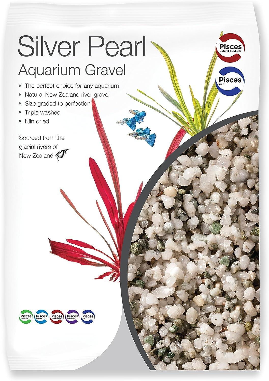 Pisces USA 4lb Silver Pearl Aquarium Gravel, Small (AM-SILVER005)