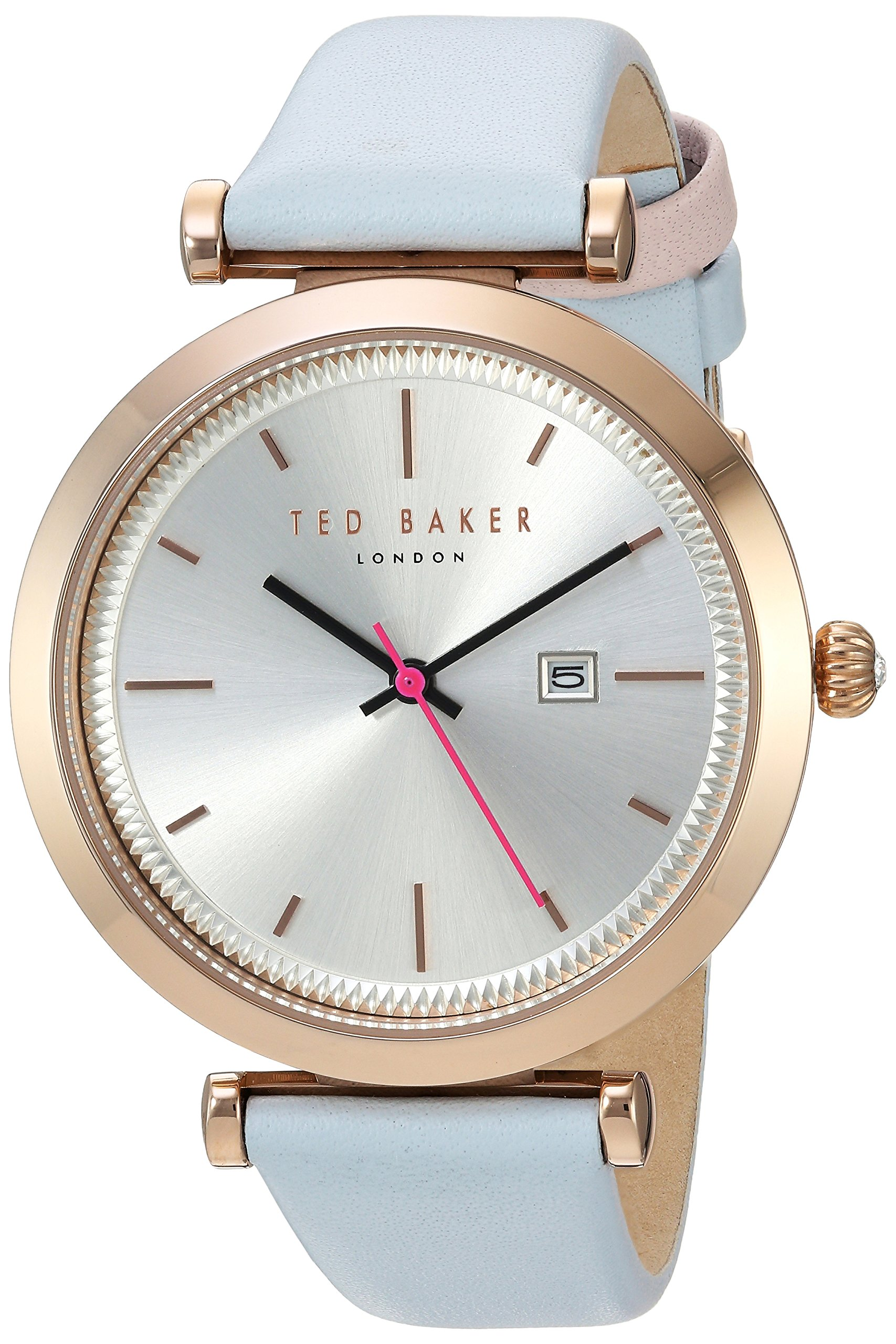 Ted Baker Women's 'AVA' Quartz Stainless Steel and Leather Dress Watch, Color:Blue (Model: 10031520)