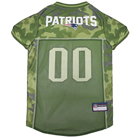 b0db1210a NFL New England Patriots Camouflage Dog Jersey, X-Large. - CAMO PET Jersey