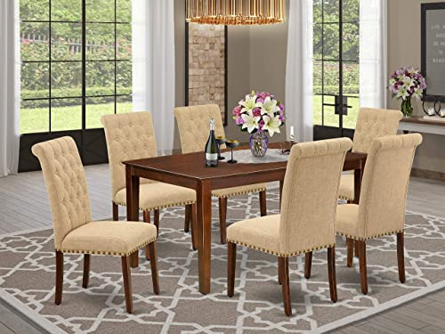East West Furniture Wood Dinette Set 7 Piece