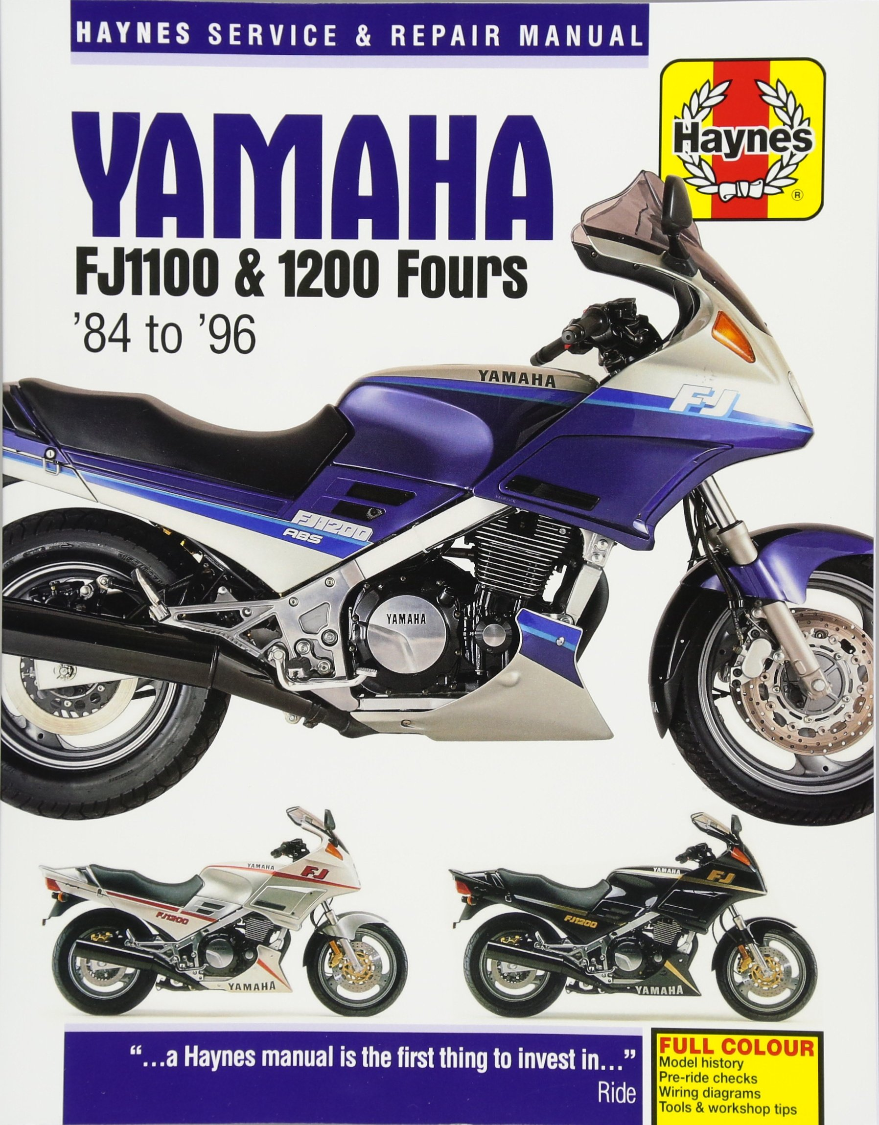 Yamaha Fj1100 & 1200 Fours '84 To '96 (haynes Service & Repair Light Wiring  Diagram Fj1100 Wiring Diagram