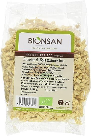 Bionsan Proteine De Soja Texturee Fine Biologique 6 Sachets De 200 Gr Total 1200 Grammes Amazon Fr Epicerie