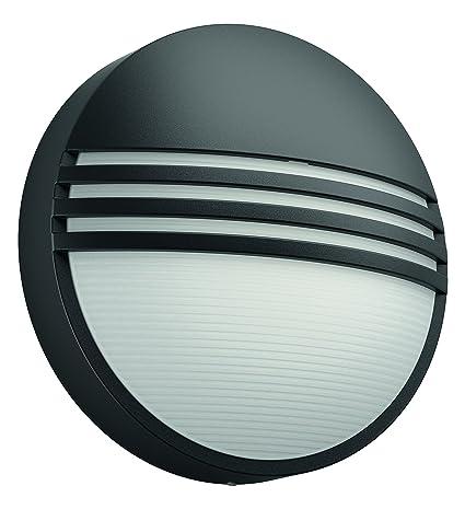 Philips myGarden Yarrow - Aplique de exterior, sintético, color negro