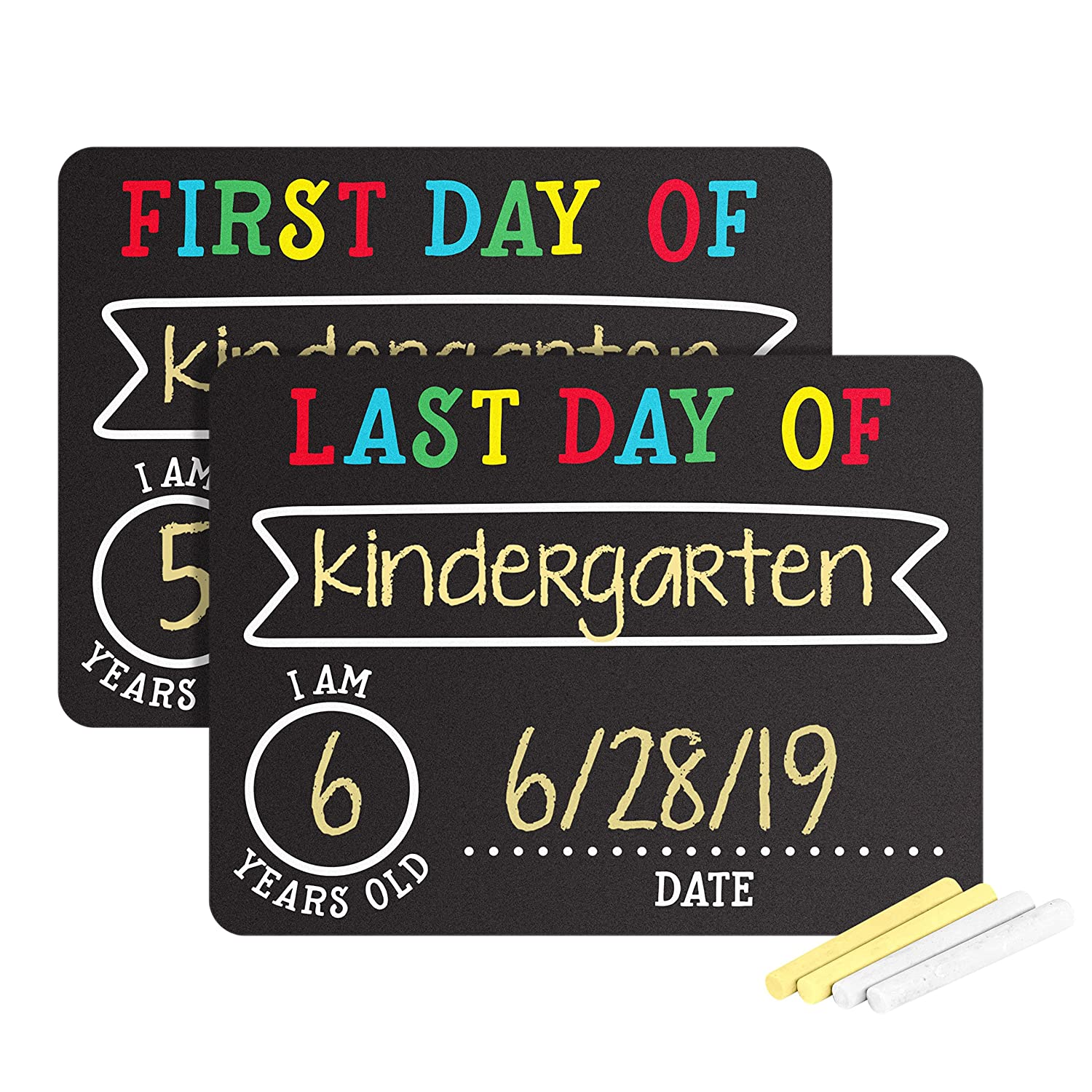 Pearhead First and Last Day of School Photo Sharing Chalkboard Signs; The Perfect Back to School Chalkboard Sign to Commemorate The First Day of ...