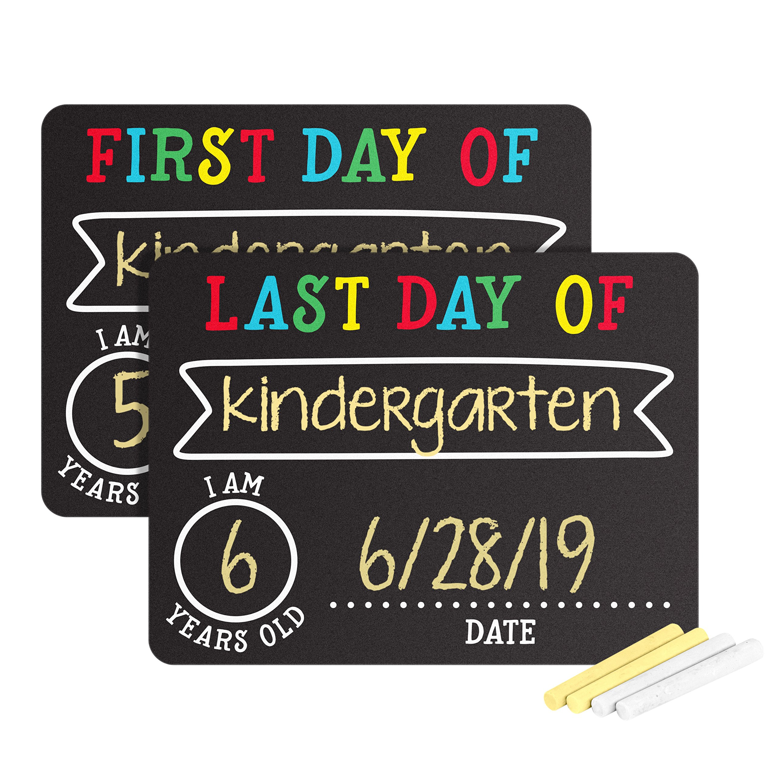 Pearhead First and Last Day of School Photo Sharing Chalkboard Signs