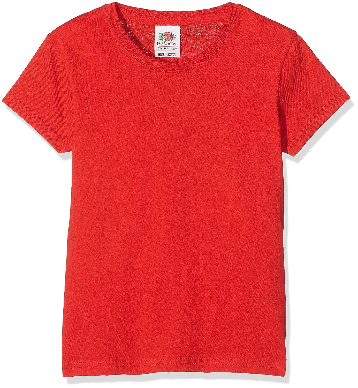 Fruit of the Loom M/ädchen Valueweight T Girls T-Shirt
