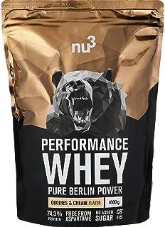 nu3 Performance Whey Protein Cookies & Cream - 1kg de proteina de suero en polvo -