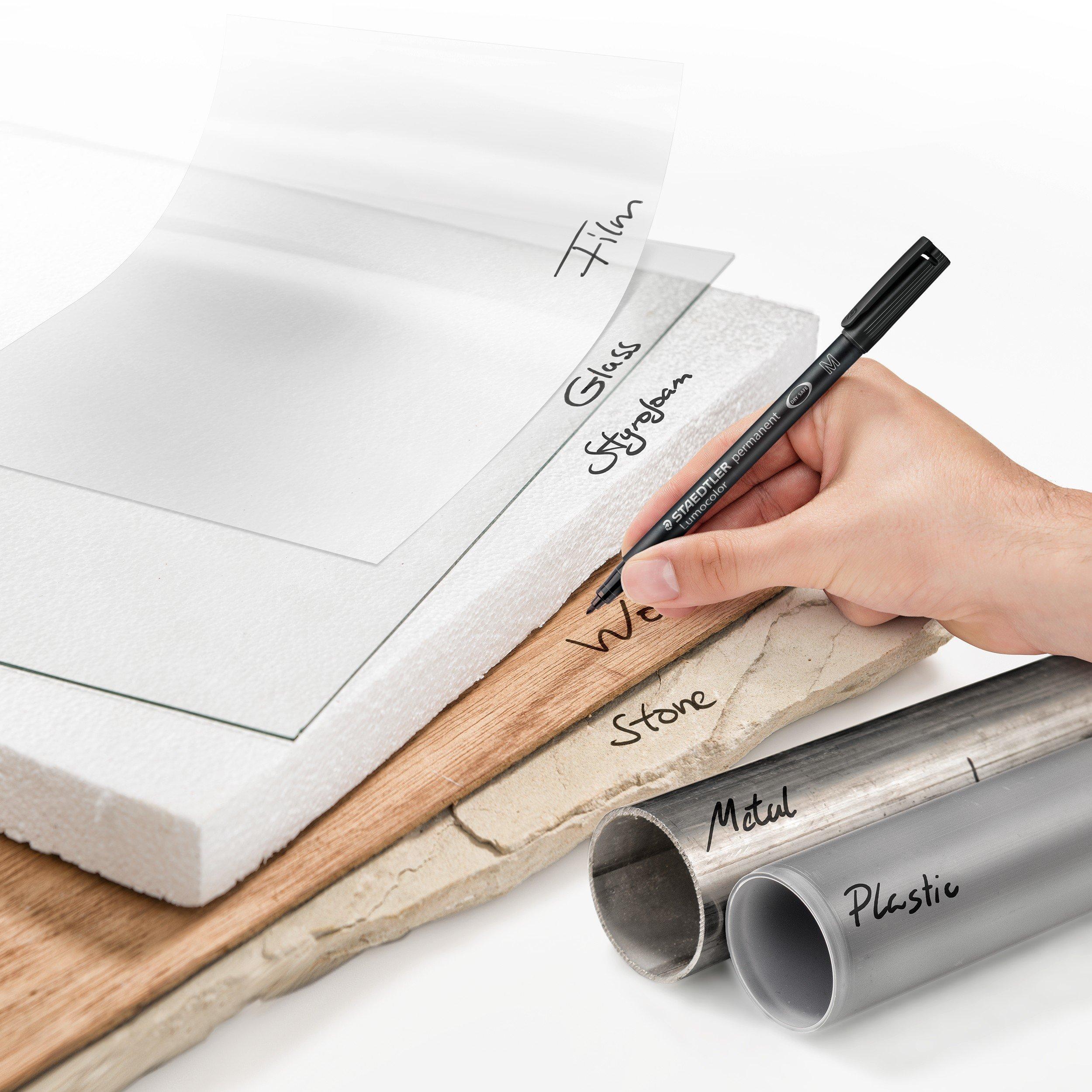 Staedtler 313 Lumocolor Universal Permanent Superfine Pens Black 0.4mm