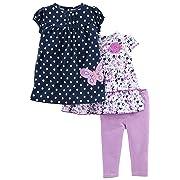 Simple Joys by Carter's Baby Girls' 3-Piece Playwear Set, Navy/Purple, 18 Months