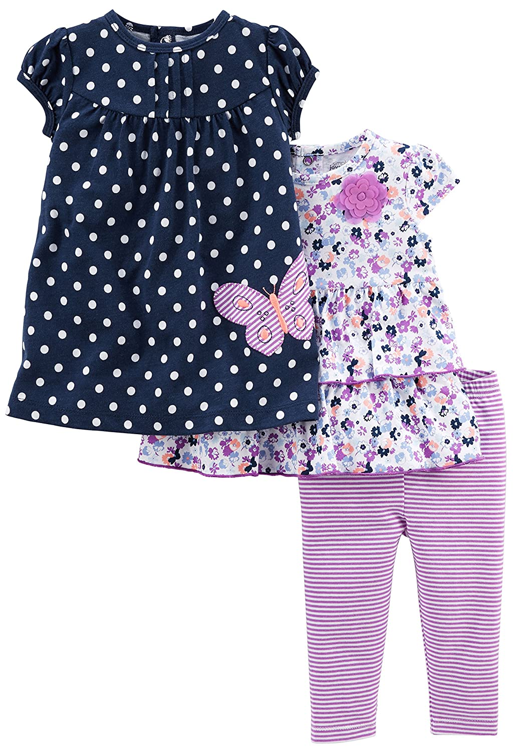 Simple Joys by Carter's Girls' 3-Piece Playwear Set Simple Joys by Carter's