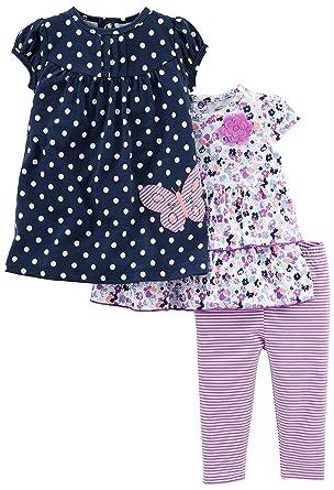 e35253d61d31 Amazon.com  Simple Joys by Carter s Baby Girls  3-Piece Short-Sleeve ...