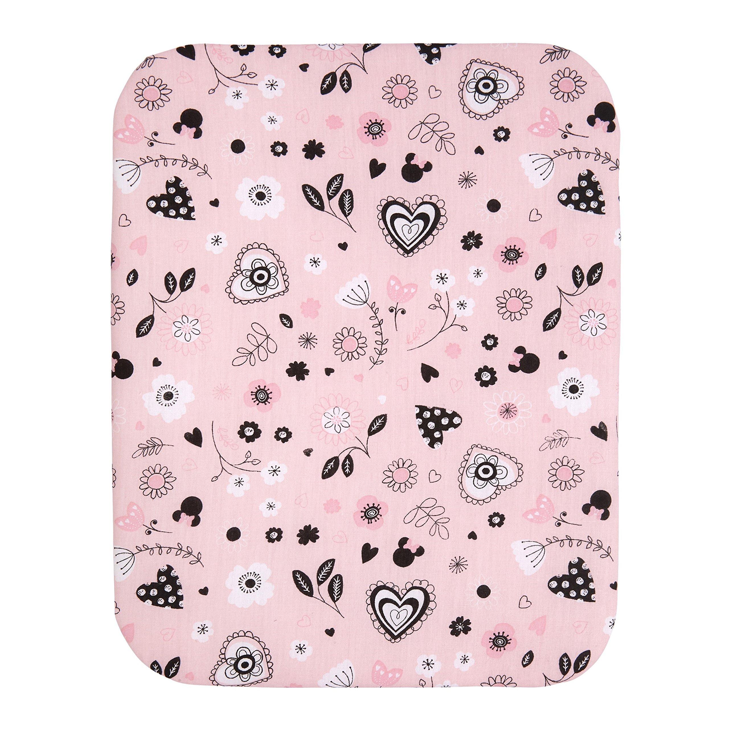 Disney Minnie Mouse Hello Gorgeous 3-Piece Crib Bedding Set, Pink/Black/White