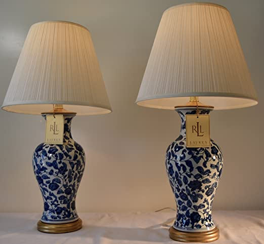 ralph lauren lighting fixtures table lamp pair of two 2 lauren by ralph meredith blue and white flower porcelain