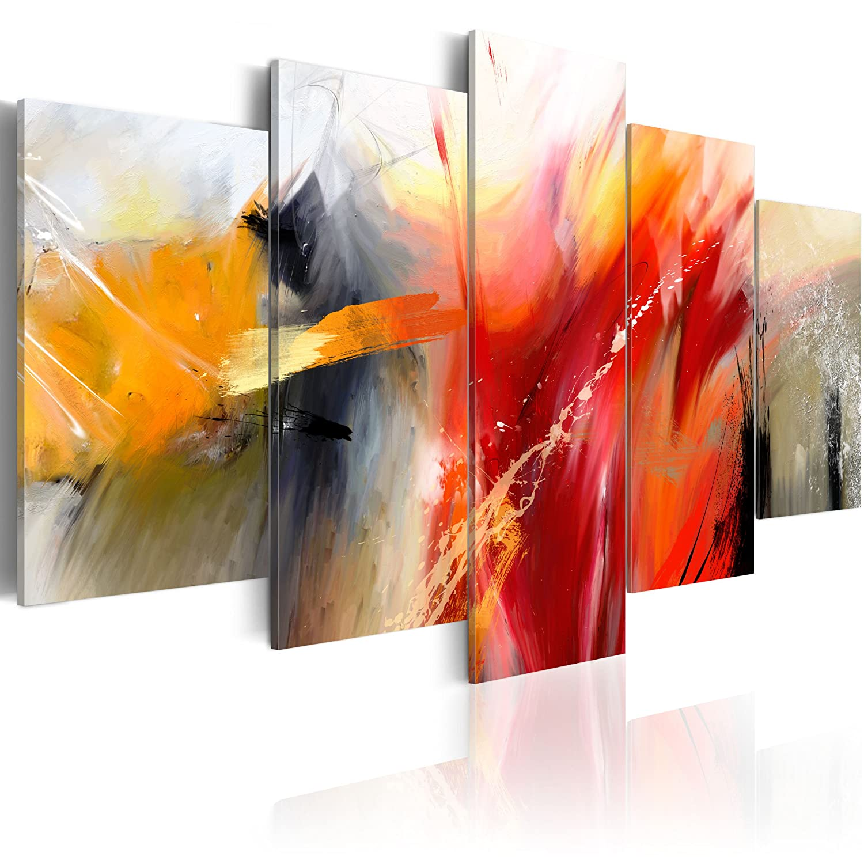 Murando - handbemalte Bilder auf Leinwand Abstrakt 200x100 cm - 5 Teilig - Leinwandbilder - Wandbilder XXL - Kunst - Wandbild - Modern Farbe 0101-57