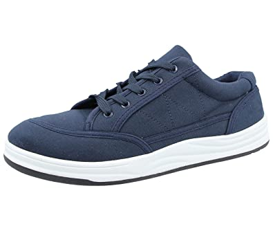 12f6d6c386 Mens Lloyd Lace Up Fastening Skate Canvas Plimsolls Sturdy Sole Trainers  Casual Shoe Navy Lace Up 8 UK  Amazon.co.uk  Shoes   Bags