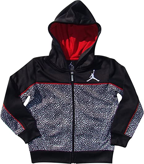 bc289f1a0fd1 Amazon.com  NIKE Boys Jordan Therma-Fit Elephant Print Hooded Jacket ...