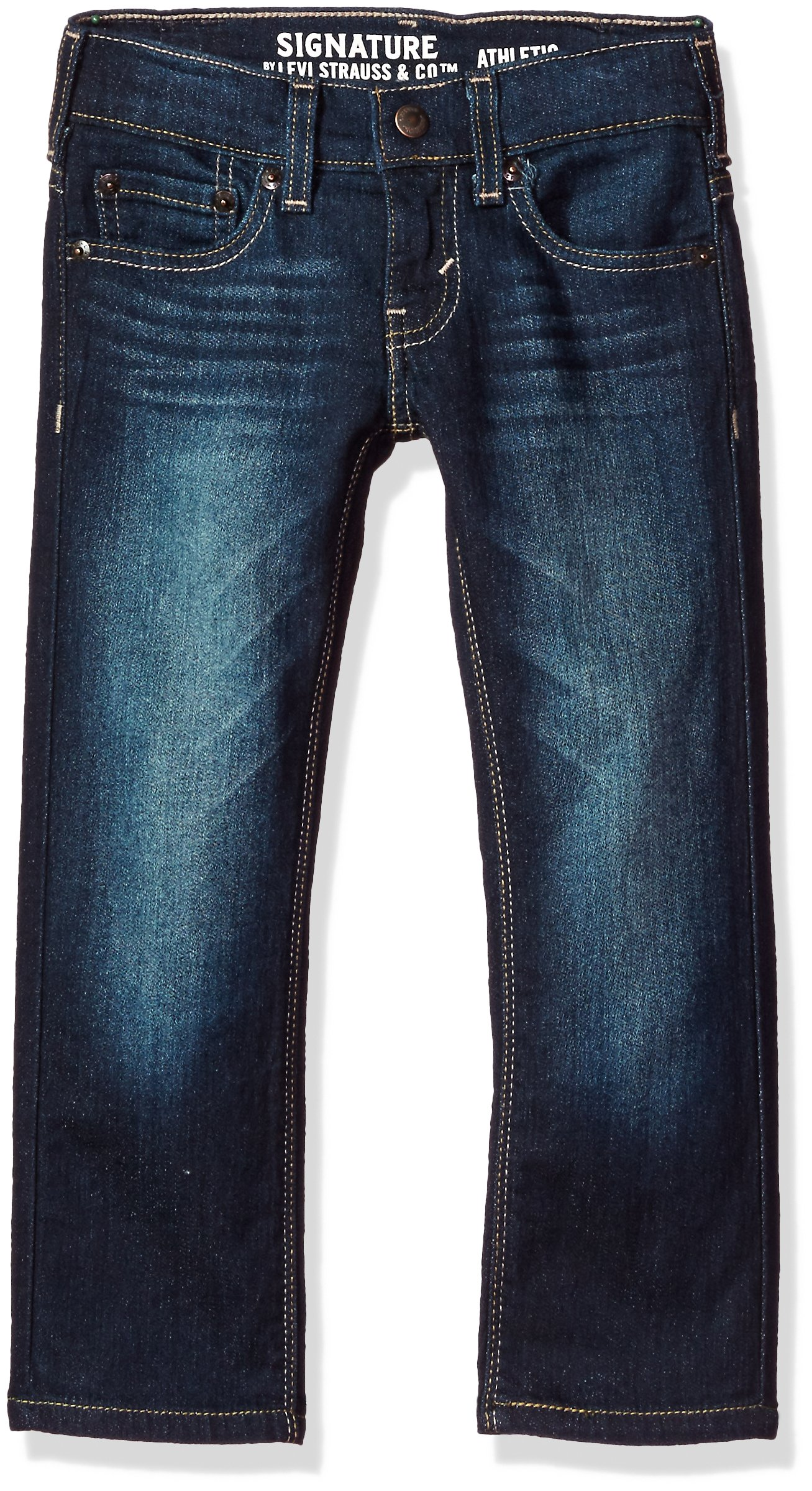 Signature by Levi Strauss & Co. Gold Label Big Boys' Athletic Fit Jeans, Grande, 12
