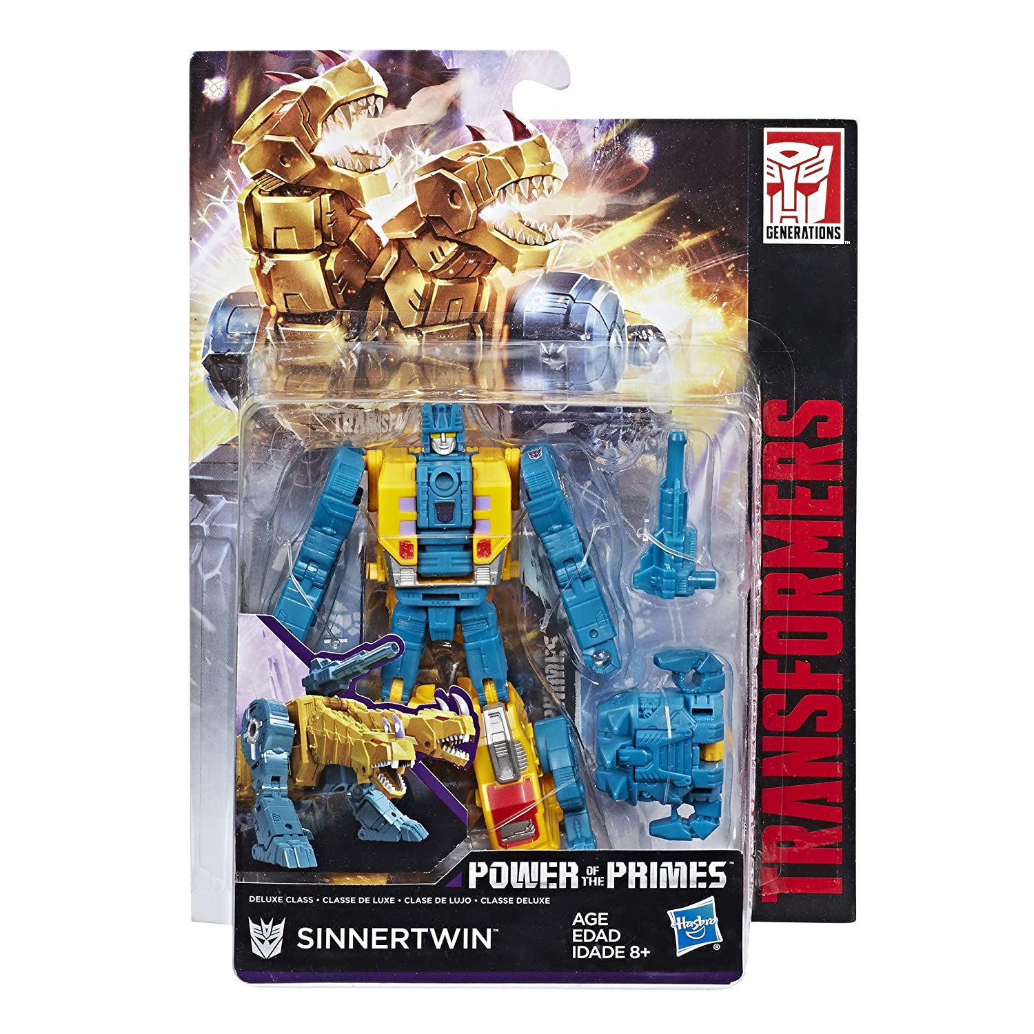 Transformers Generations Power of the Primes Deluxe Class Sinnertwin Hasbro E1133