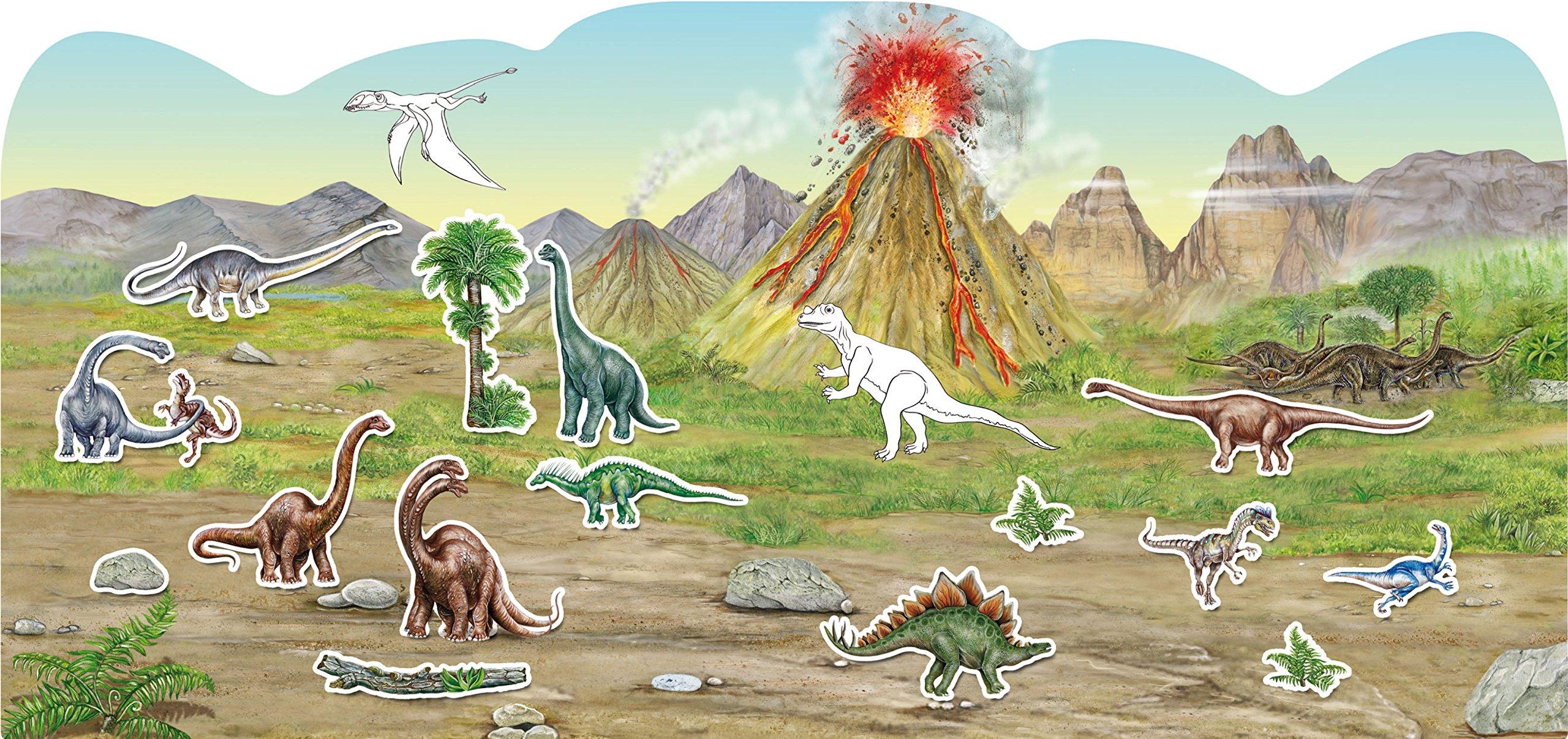 Dinosaurier: Stickern - Malen - Gestalten: Amazon.de: Annalisa und ...
