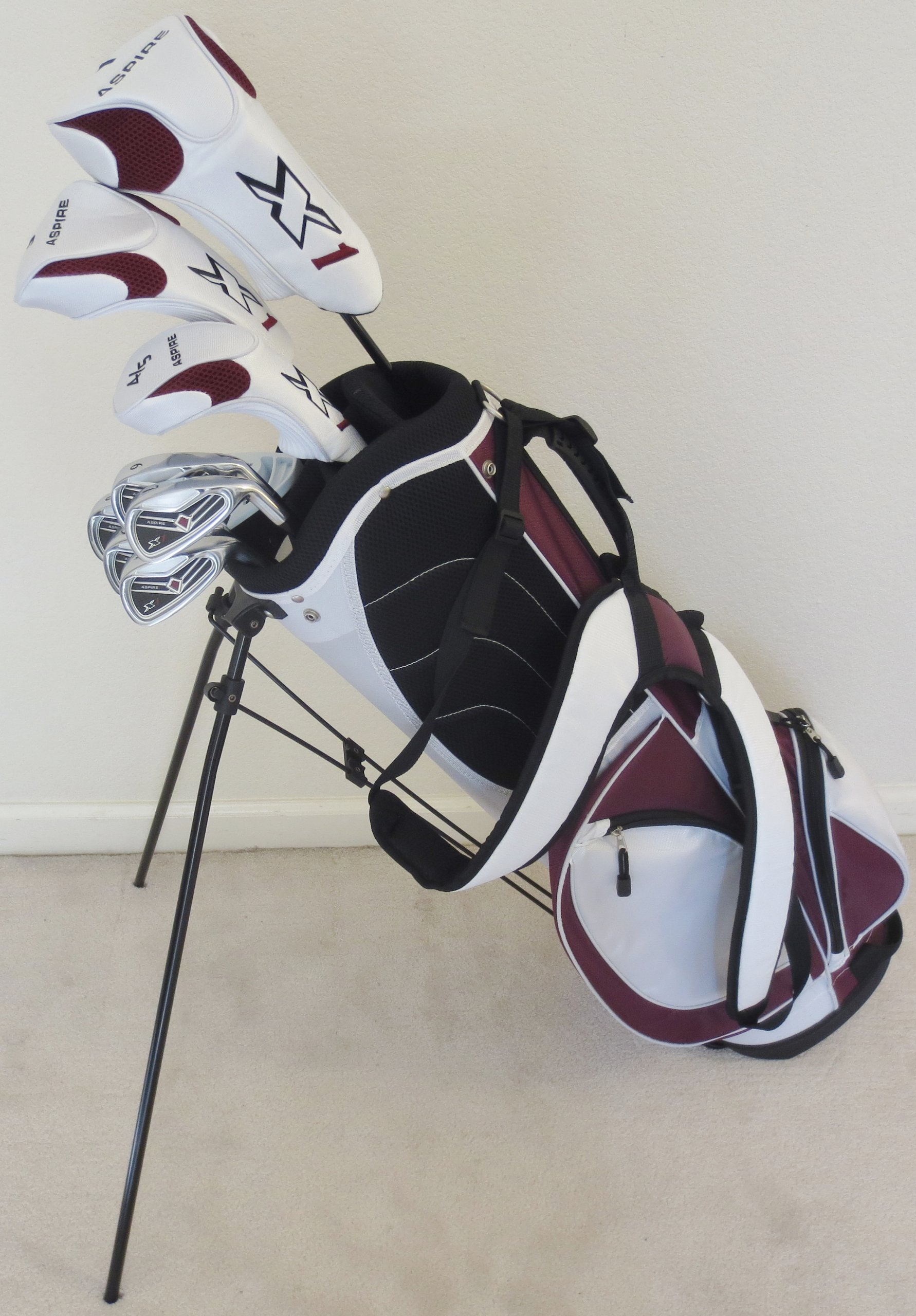 Ladies RH Complete Golf Club Set Driver, Fairway Wood, Hybrid, Irons, Putter, Stand Bag