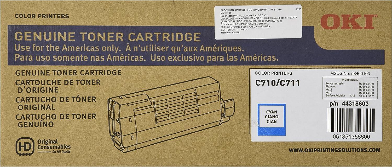 CNY Toner 5 Packs Compatible Okidata 44318604 Toner