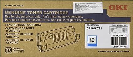 Okidata 44318603 C711 Toner Cartridge (Cyan) in Retail Packaging