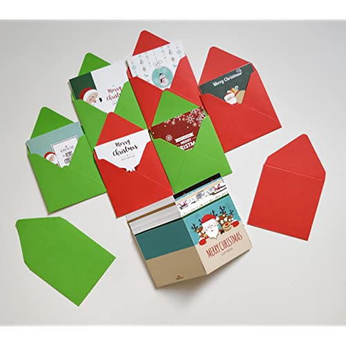 papeteriee mini christmas greeting cards with envelopes pack of 24 - Buy Greeting Cards Online
