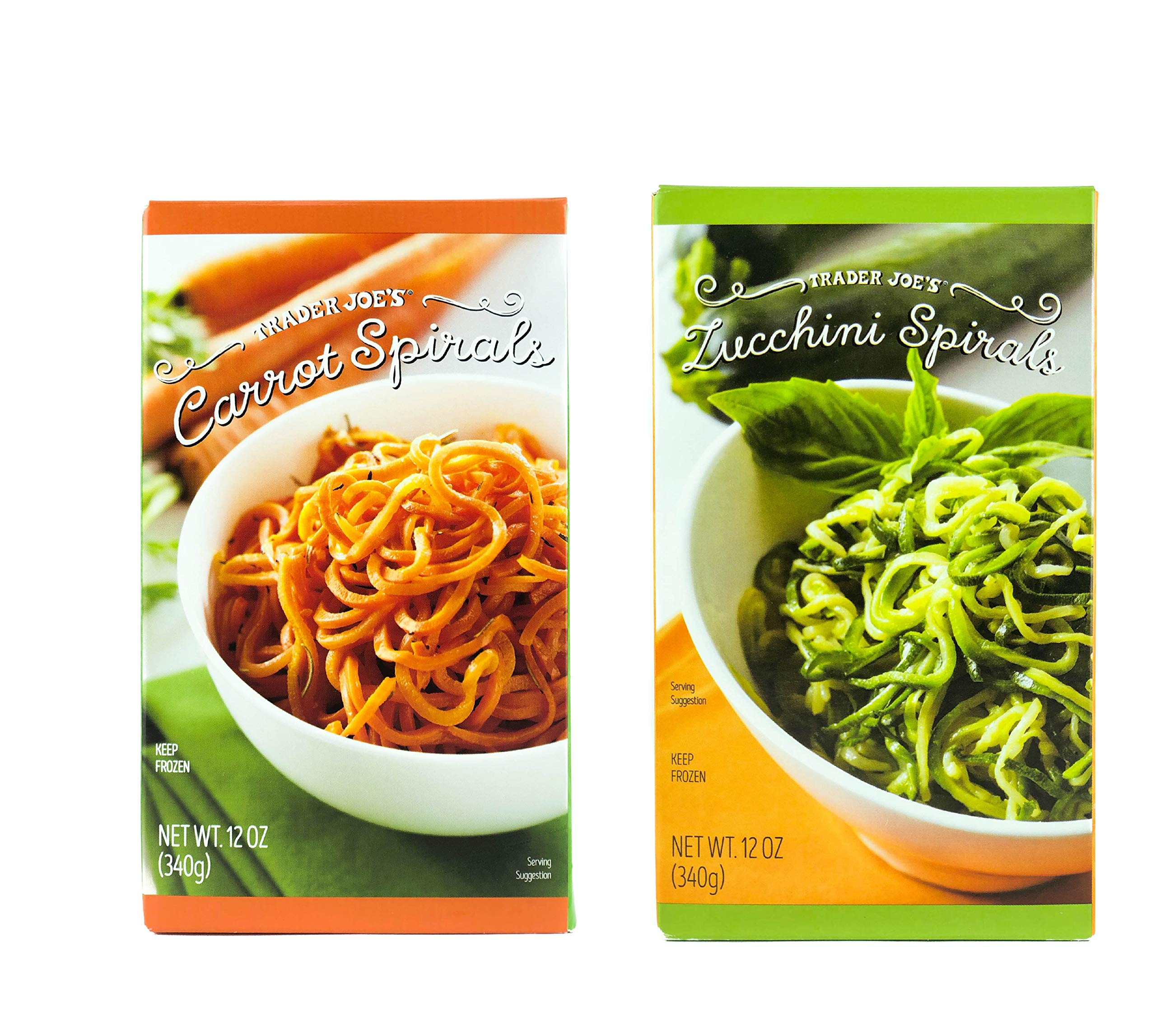 Trader Joe's Carrot and Zucchini Spirals Variety Pack, 4 of each (8 Pack)