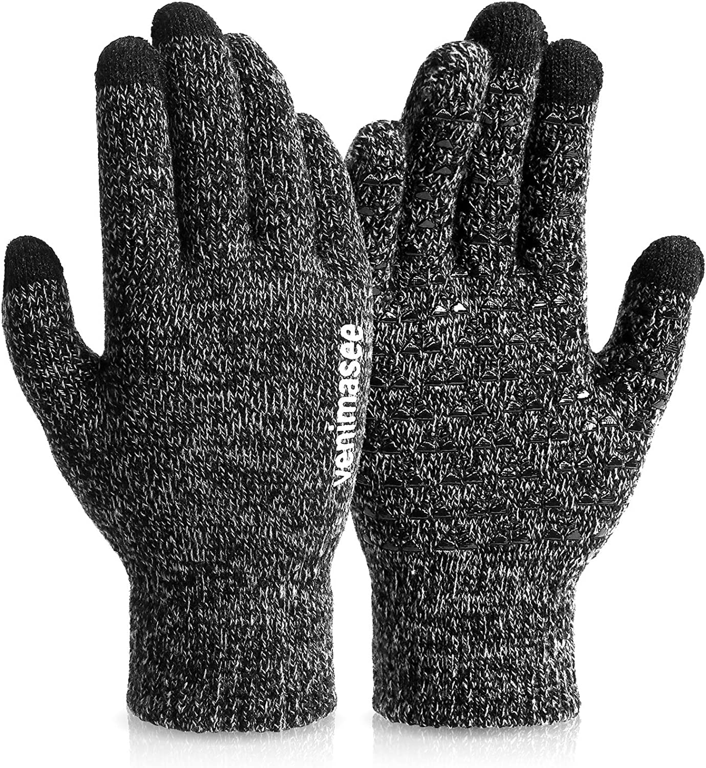 VENI MASEE Winter Gloves Touch Screen Warm Knit Gloves WAS £8.99 NOW £4.50 w/code UH36RQ9X @ Amazon