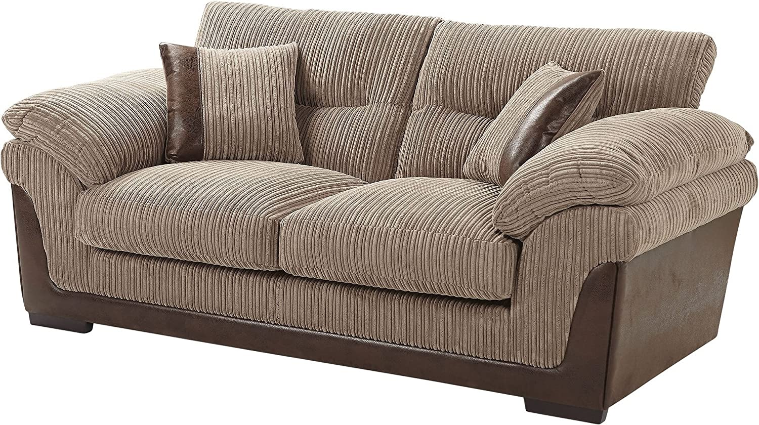 Fantastic Tesco New Kendal Jumbo Cord Faux Leather 2 5 Seater Sofa Forskolin Free Trial Chair Design Images Forskolin Free Trialorg