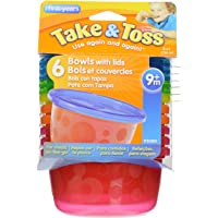 The First Years Take & Toss - Bowls with Lids (6 pcs)