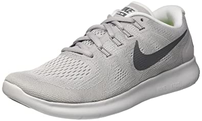 newest 2a789 55414 Nike Women's Free RN 2017 Running Shoe Wolf Grey/Dark Grey-Pure Platinum 7.5